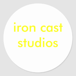 iron cast studios classic round sticker