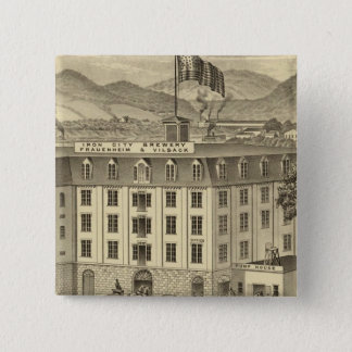 Iron City Brewery, Frauenheim and Vilsack 15 Cm Square Badge