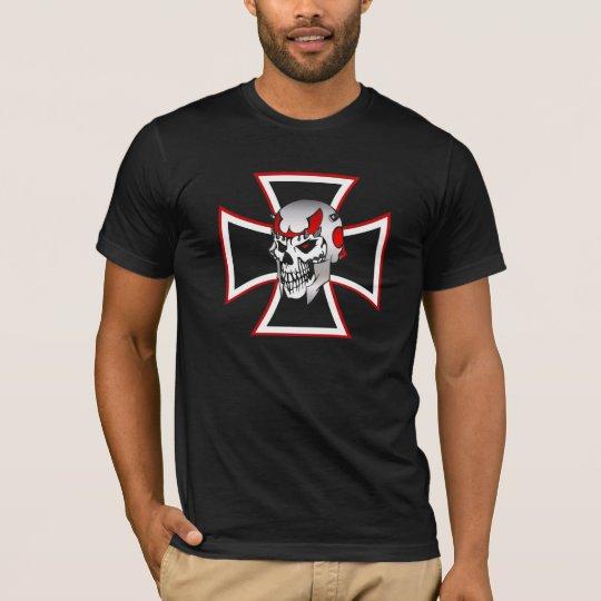 Iron Cross Skull graphic design men's t-shirt