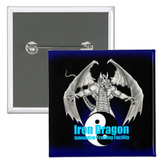 Iron Dragon Logo 15 Cm Square Badge