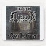 """Iron Dragon """"OPEN THE GATES"""" Mousepad"""