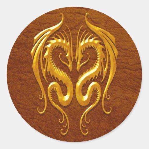 Iron Dragons, brown Sticker