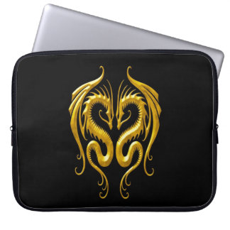 Iron Dragons, yellow and black Laptop Sleeve
