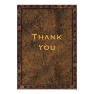 Iron Framed Effect Boys Birthday Thank You 9 Cm X 13 Cm Invitation Card
