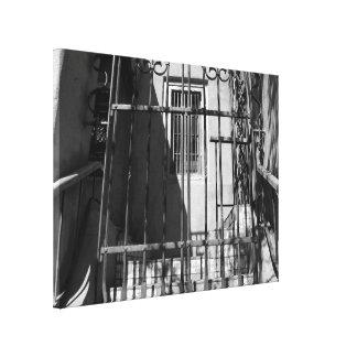 Iron Gate and Window Canvas Print