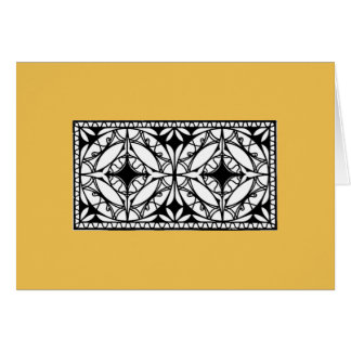 Iron grille design, 1912; Modernist style Card