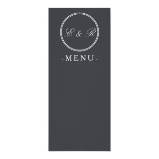 Iron Grille Grey with White Borders and Text 10 Cm X 24 Cm Invitation Card