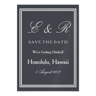 Iron Grille Grey with White Borders and Text Magnetic Invitations