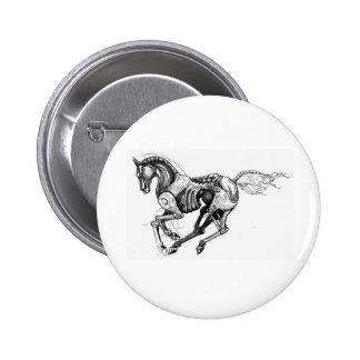 Iron Horse 6 Cm Round Badge