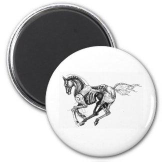 Iron Horse 6 Cm Round Magnet