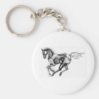 Iron Horse Basic Round Button Key Ring