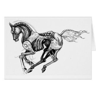 Iron Horse Greeting Card