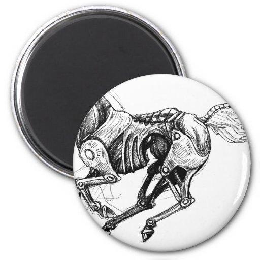 Iron Horse Fridge Magnet