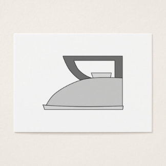 Iron illustration. Gray and Black on White. Business Card