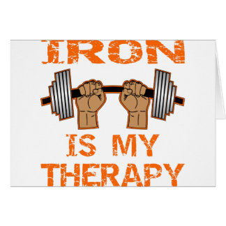 Iron Is My Therapy - Weightlifting Card