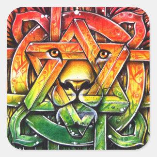 Iron Lion Zion - M1 Square Sticker