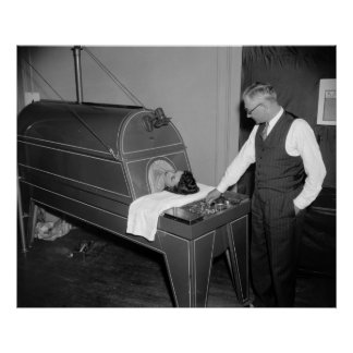 Iron Lung Therapy, 1930s Poster