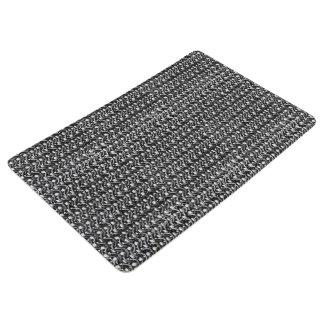 Iron Mail Gunmetal Black Metal Chain Armor Floor Mat