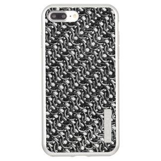 Iron Mail Gunmetal Black Metal Chain Armor Incipio DualPro Shine iPhone 7 Plus Case