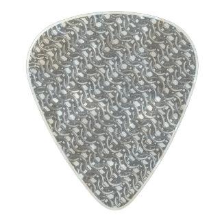Iron Mail Gunmetal Black Metal Chain Armor Pearl Celluloid Guitar Pick