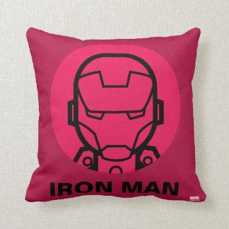 Iron Man Stylized Line Art Icon Cushion