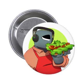 Iron mask yarou and hot dog 6 cm round badge