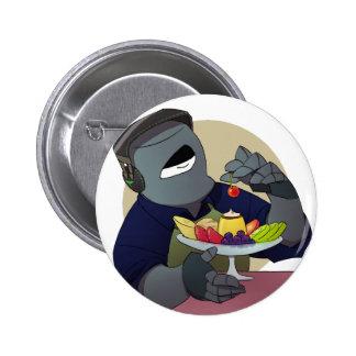 Iron mask yarou and purine 6 cm round badge