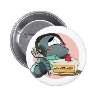 Iron mask yarou and shortcake 6 cm round badge
