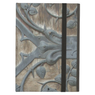 Iron Medieval Lock on Wooden Door Case For iPad Air