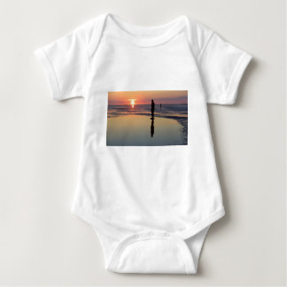 Iron Men at Sunset, Crosby, Liverpool UK Baby Bodysuit