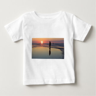 Iron Men at Sunset, Crosby, Liverpool UK Baby T-Shirt