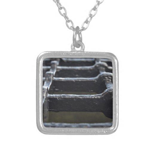 Iron mesh made of thick iron bars jewelry