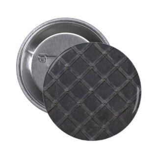 Iron Metal diamond pattern 6 Cm Round Badge