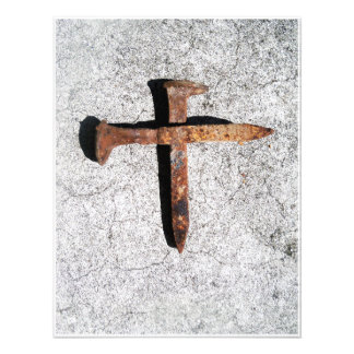 Iron Nail Cross -Nails of the crucified Christ art Photograph