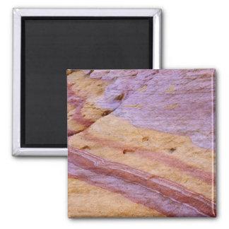 Iron oxides color a sandstone formation magnet