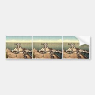 Iron pier, Llandudno, Wales rare Photochrom Bumper Sticker