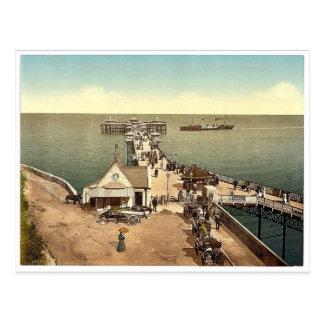 Iron pier, Llandudno, Wales rare Photochrom Postcard