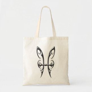 Iron Pisces Symbol Tote Bag