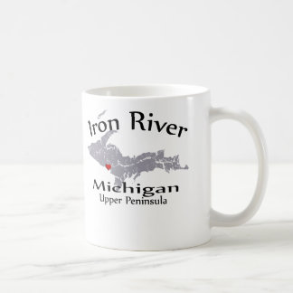 Iron River Michigan Heart Map Design Mug Mug