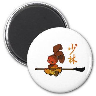 iron shaolin bunny kwan dao 6 cm round magnet
