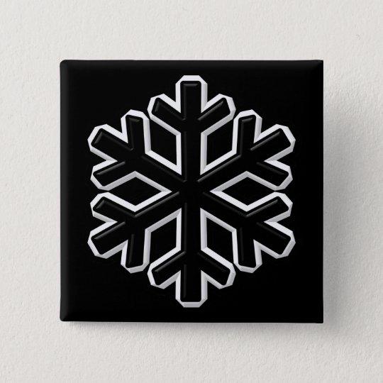 Iron Snowflake 15 Cm Square Badge
