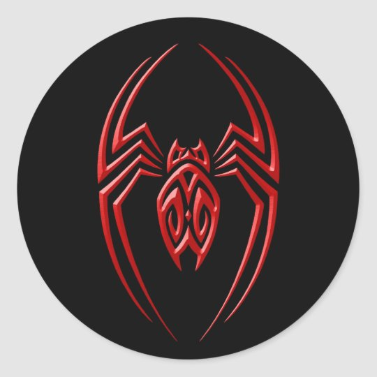 Iron Spider – Red and Black Classic Round Sticker