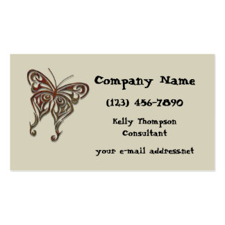 Iron Tribal Butterfly Pack Of Standard Business Cards