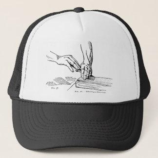 Iron Whetting Illustration Trucker Hat