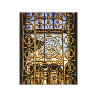 Iron Window Art Canvas Print