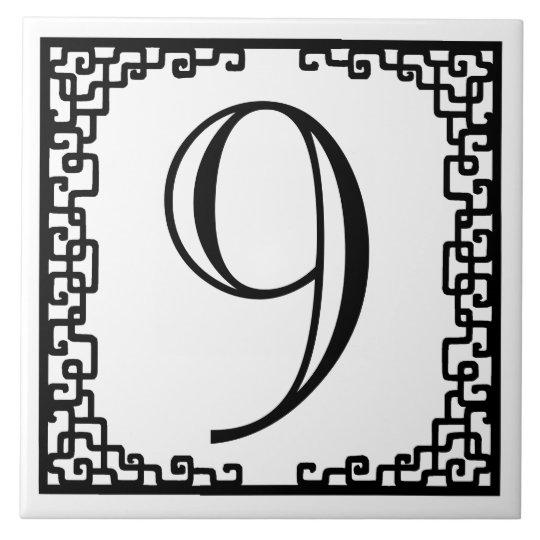 Iron Work Frame Personalised Street Number Tile