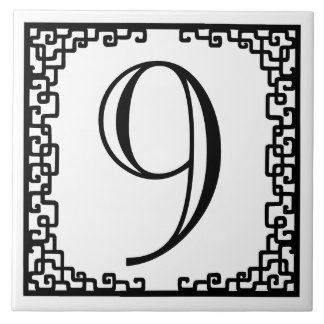 Iron Work Frame Personalized Street Number Large Square Tile