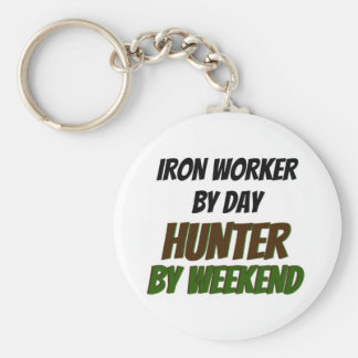 Iron Worker by Day Hunter by Weekend Key Ring