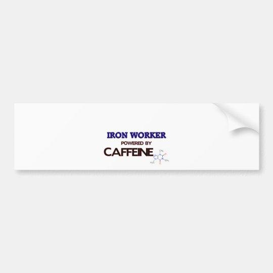 Iron Worker Powered by caffeine Bumper Sticker
