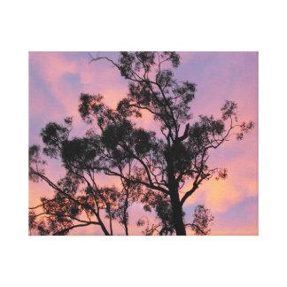 Ironbark Sunset - Pinks & Blues on Printed canvas